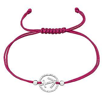 Signe du Zodiaque Sagittaire - 925 Sterling Argent - Bracelets Corded Cordon De Nylon - W39010X