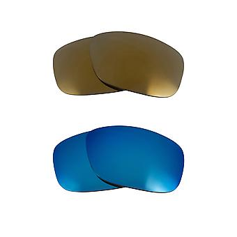 Replacement Lenses Compatible with OAKLEY SLIVER Polarized Blue & Gold