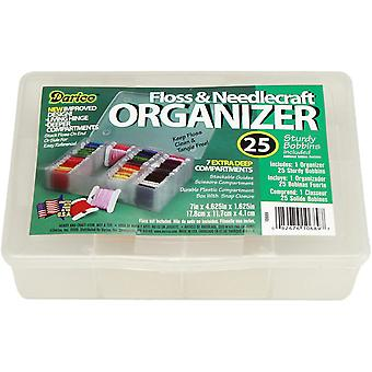 Floss Caddy 7 Compartment with 25 Bobbins 4.5