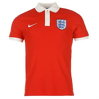 2016-2017 England Nike Core Polo-Shirt (rot)
