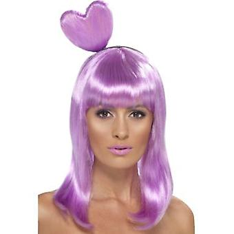 Smiffys Candy Queen Wig Lilac With Heart Headband (Costumes)