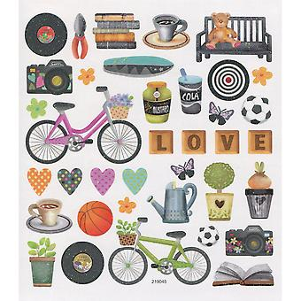 Multicolored Stickers-Spring Icons SK129MC-4927