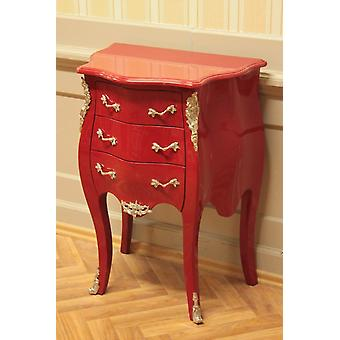 small baroque chest of drawers red shabby chice brass
