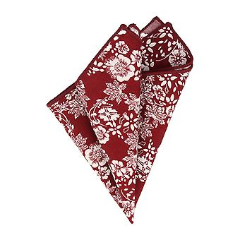 Snobbop handkerchief basic handkerchief Grand towel Bordeaux red floral Pochette