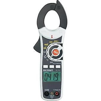 Current clamp, Handheld multimeter digital VOLTCRAFT VC-521 Calibrated to ISO standards CAT III 600 V Display (counts):