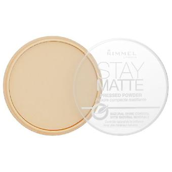 Rimmel London Bleiben Matte Pressed Powder Long Lasting