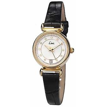 Limit Womens Black Leather Strap White Dial 6948.01 Watch
