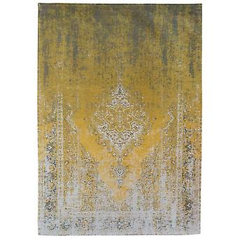 Distressed Yuzu Cream Medallion Flatweave Rug 140 x 200 - Louis de Poortere