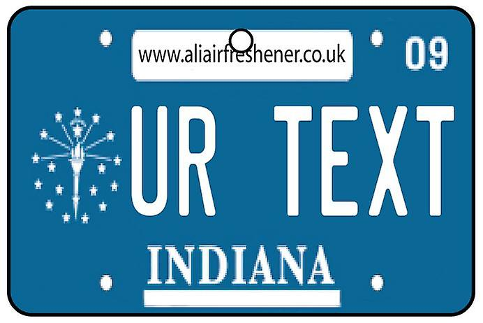 Personalised Indiana Numberplate Car Air Freshener