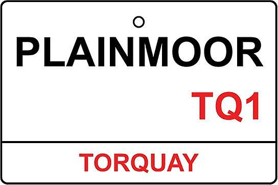 Torquay / Plainmoor Stadium Street Sign Car Air Freshener