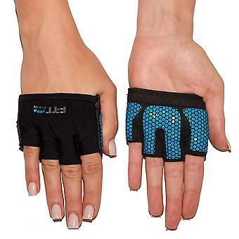 Passen Sie vier Greifer Fitness Gewichtheben Handschuhe - Electric Blue