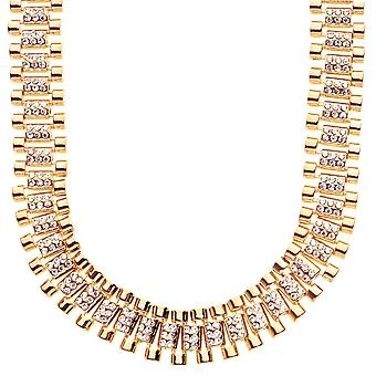 Iced out collier de hip-hop bling - CZ lien or 15mm