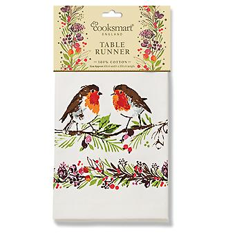 Cooksmart Winter Chorus 45cm x 200cm Cotton Table Runner