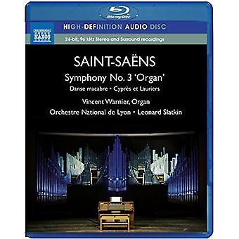 Saint-Saens / Warnier / Slatkin - Sym 3 Organ Sym Danse Macabre Cypres Et Lauriers [BLU-RAY] USA import