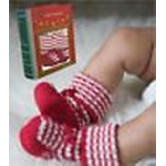 Angel Dear Holiday Knitted Booties In a Gift Box