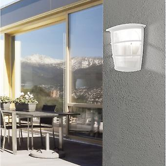 Eglo ALORIA White Lantern Wall Light