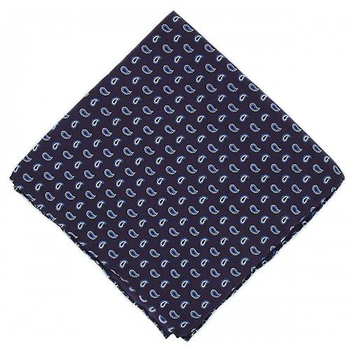 Michelsons of London Small Pine Silk Handkerchief - Purple
