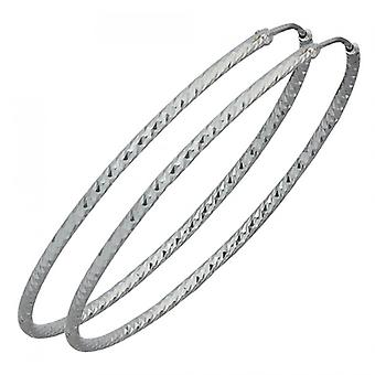 Hoepel oorbellen 925 /-s hoepel oorbellen zilver zilver hoop earrings silver diamond earrings