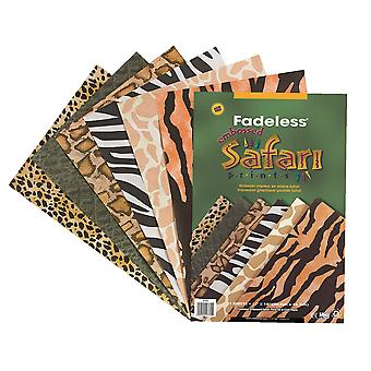 24 Assorted Fadeless Safari Printed Paper for Crafts | Coloured Card for Crafts