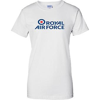 Licensed MOD -  Royal Air Force Insignia Logo - Ladies T Shirt