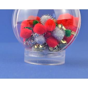 Dual Sided Acrylic Bauble Stand for Christmas Baubles 8cm - 14cm
