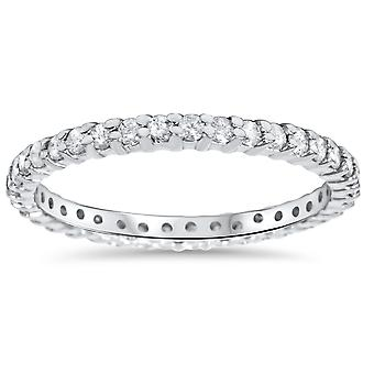 3/4 Karat Diamant Ewigkeit Ring 14K White Gold