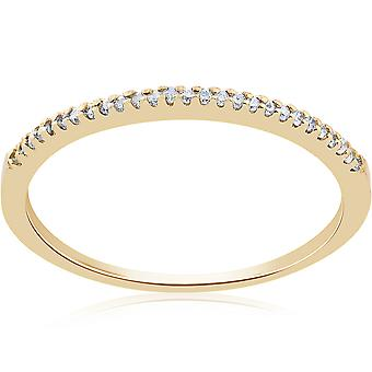 1/10ct Diamond Wedding Ring 14k Yellow Gold