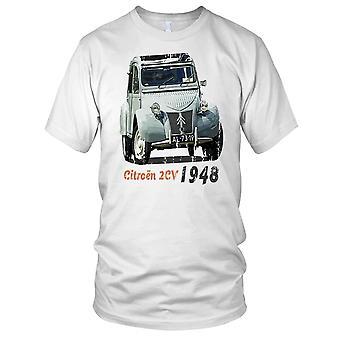 Citreon 2CV 1948 Classic French Car Mens T Shirt