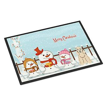 Merry Christmas Carolers Cocker Spaniel Buff Indoor or Outdoor Mat 24x36
