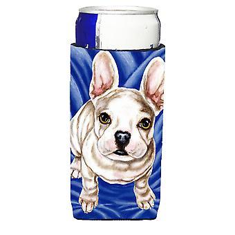 Diamant in blaue französische Bulldogge Ultra Getränke Isolatoren für schlanke Dosen