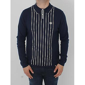 Pretty Green Whittle Knitted Polo - Navy