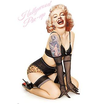 Marilyn Tätowierungen (Hollywood Pin-Up)-Plakat-Druck (12 x 18)