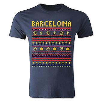 Barcelona Christmas T-Shirt (Navy) - Kids
