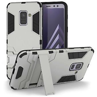 Samsung Galaxy A8 Plus (2018) Armour Kickstand sag - sølv