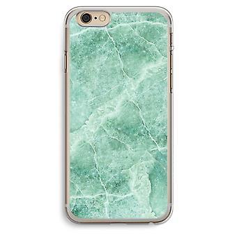 iPhone 6 Plus / 6S Plus caja transparente (suave) - mármol verde