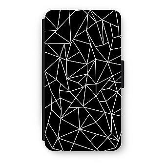 Samsung Galaxy A3 (2016) Flip Case - geometriske linjer hvit