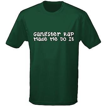 Gangster Rap Me hizo hacerlo hombres camiseta 10 colores (S-3XL) por swagwear