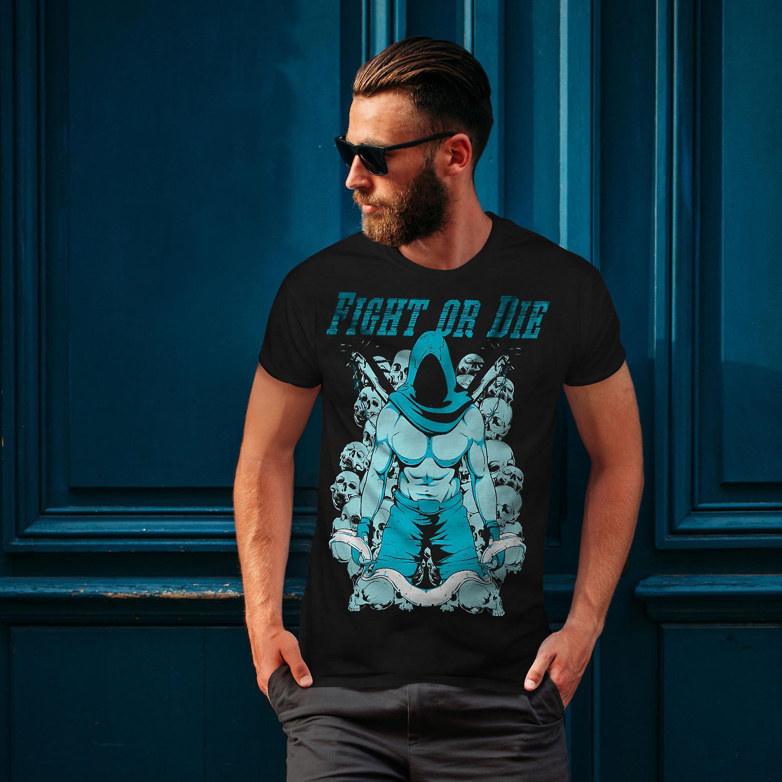 Battre ou mourir Gym Sport BlackT-chemise homme | Wellcoda