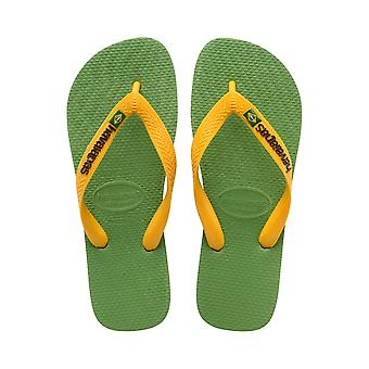 Havaianas Brasil Logo - Green Bamboo (Man-Made) Mens Sandals