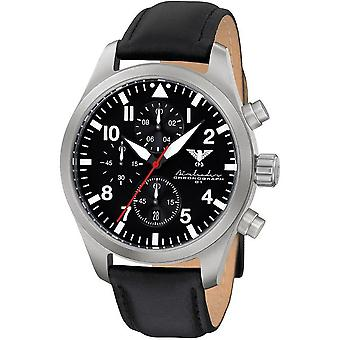 KHS mens watch Airleader Steel Chronograph KHS. AIRSC. L