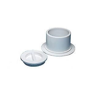 Waterway 540-6710 Flange and Plug Assembly for Pole Holders