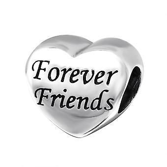 Heart Forever Friends - 925 Sterling Silver Plain Beads