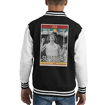 Sport-Legenden Poster USA John McEnroe Tennis Superbrat 1959 Kid es Varsity Jacket