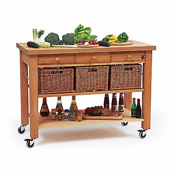 The Lambourn three drawer trolley