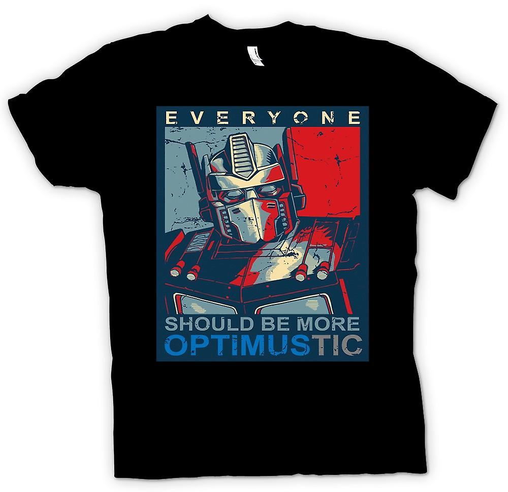 Herr T-shirt-Transformers Optimus Primus Optimustic