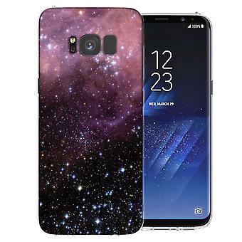 Samsung Galaxy S8 lila und schwarz Konstellation TPU Gel Fall