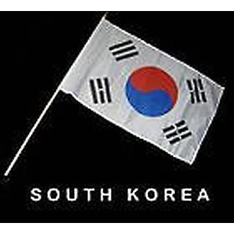 Bandera de Corea del sur mano Held
