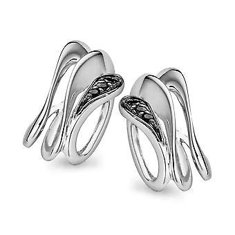 Orphelia Silber 925 Ohrringe schwarz & weißer Zirkon ZO-5016