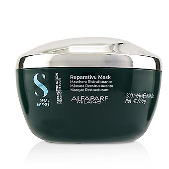 AlfaParf Semi Di Lino Reconstruction Reparative Mask (Damaged Hair) 200ml/6.88oz