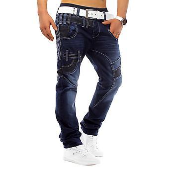 Pantalones vaqueros del diseñador gran tamaño cortos clubwear diseño estilo Assassindenim gruesa la costura